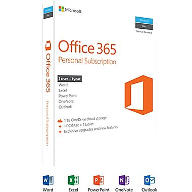 PM Microsoft Office 365 Personal 32b/x64 English 1YR 1
